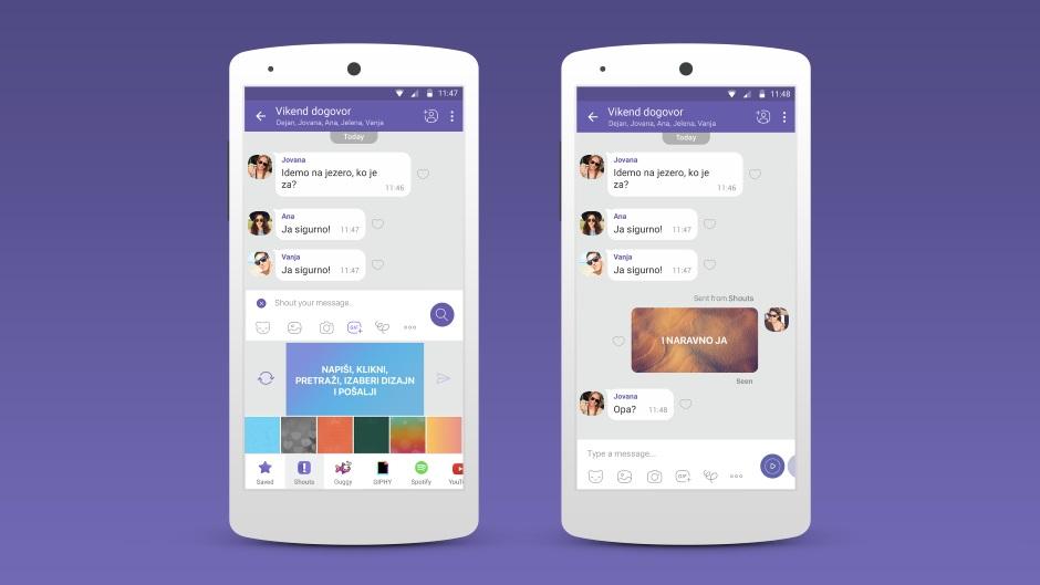 Viber uveo nove dodatke za poruke (FOTO, VIDEO
